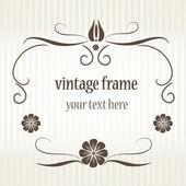 Vintage ram för gratulationskort. — Stockvektor