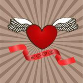 Grange heart — Stock Vector