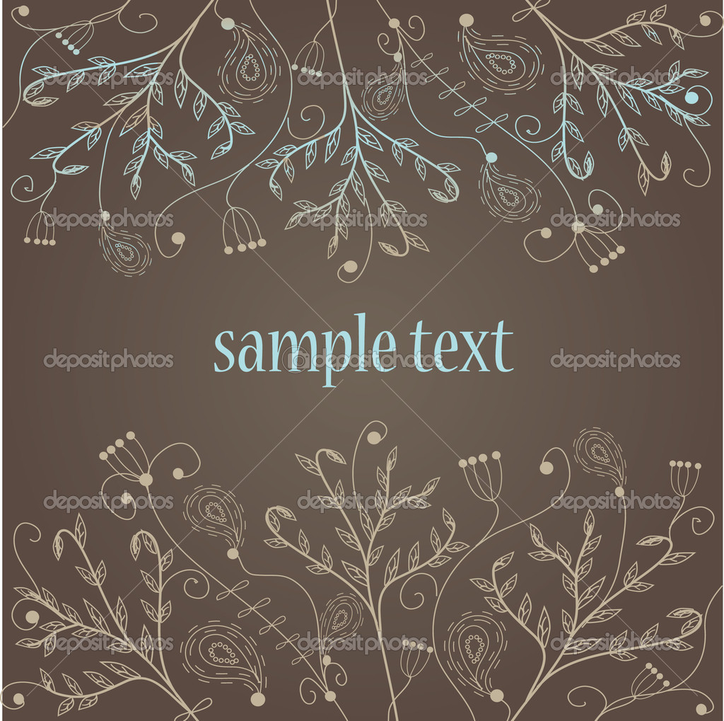 Floral background. Vector. — Stock vektor #1432026