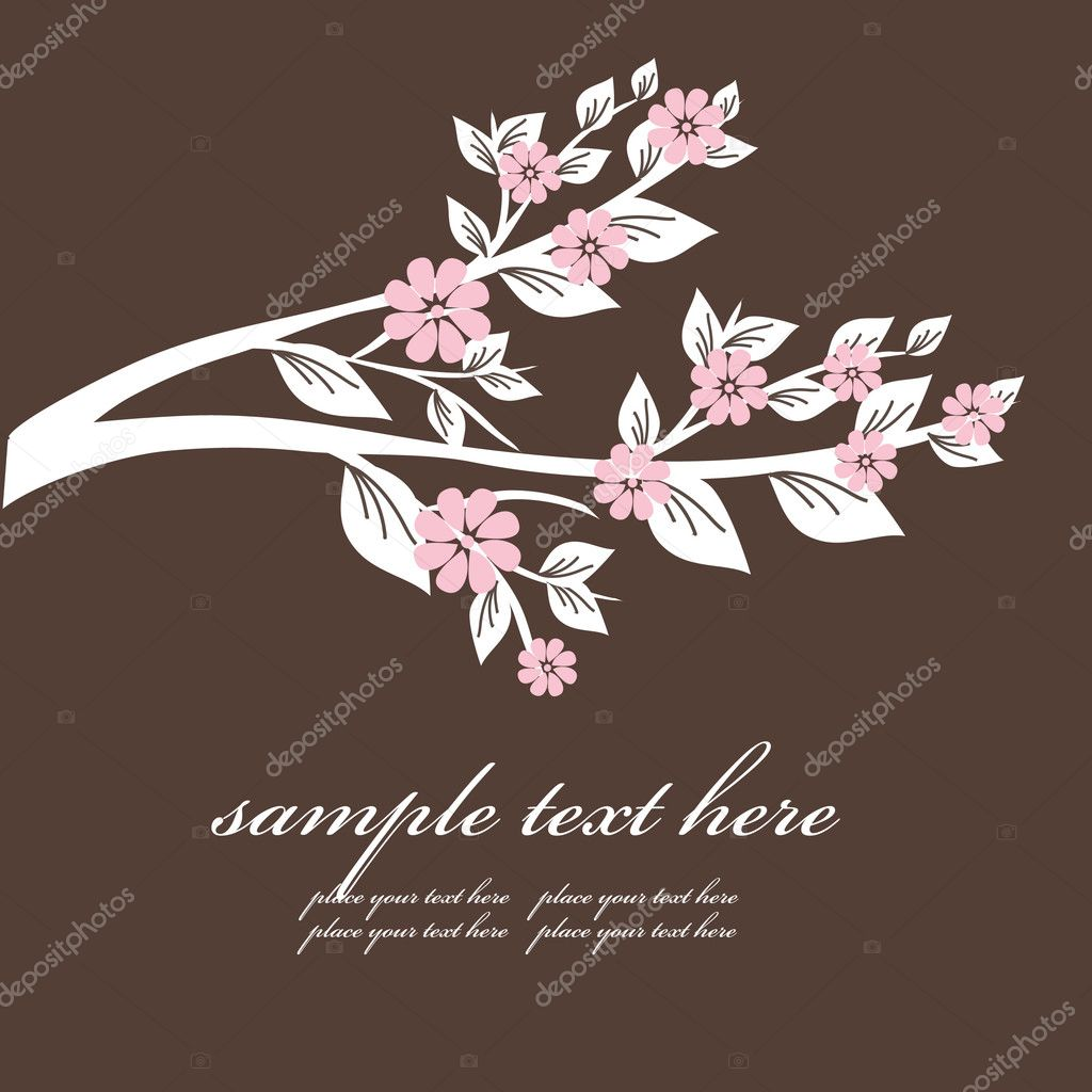 Floral background for greeting card. Vector — Stock Vector #1432141