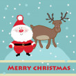 Royalty-Free Stock Vector Image: Santa and reindeer. Vector.