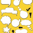 Royalty-Free Stock Vector Image: Speech balloons