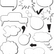 Stock Vector: Speech balloons