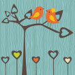 Birds in love - Stock Vector