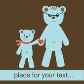 Bears family. — Stock Vector