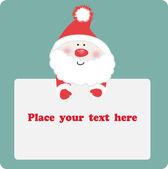 Santa`s banner. — Stock Vector
