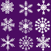 Snowflakes set. — Stock Vector