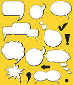 Speech balloons — Stock Vector