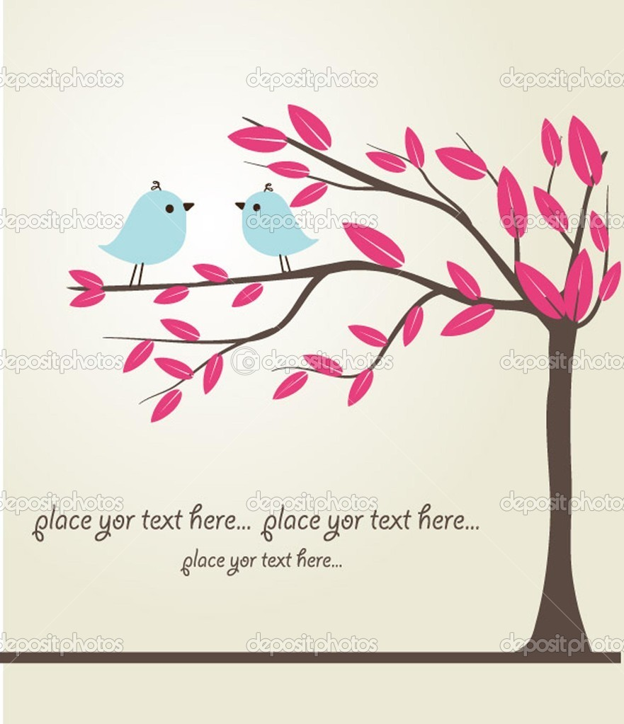 Birds couple in love. vector  Stock Vector #1492393