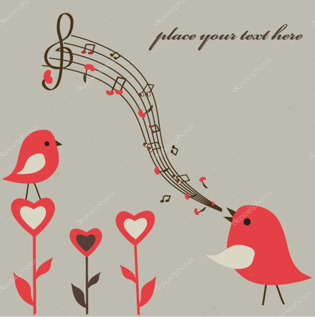 Love song. Vector illustration  Stock Vector #1492394