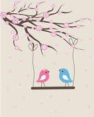 Ptaki — Wektor stockowy