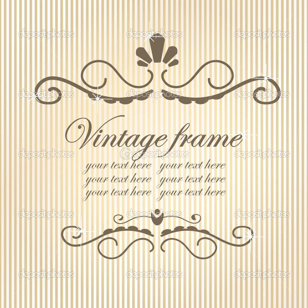 Vintage frame. Vector illustration. — Stock Vector #1533896
