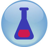 Chemical flask — Stock Vector