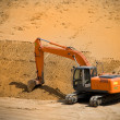 Excavator, power shovel - Foto Stock