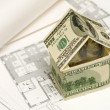 Stock Photo: House made of money