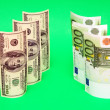 Euro vs dollar — Stock Photo