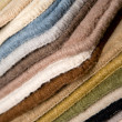 Pile of colored samples — Stock Photo
