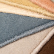 Colored samples of carpet — Stock Photo