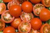 Tomato salad closeup — Stock Photo