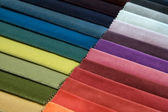 Different colors of fabric — Stok fotoğraf
