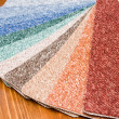 Colored carpet samples — Stock Photo