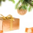Christmas gift under the tree — Stock Photo