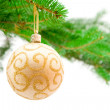 Christmas toy and tree — Stock Photo #1401661