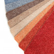 Color range of carpet samples — Foto de Stock