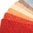 Color range of carpet samples — Stock Photo