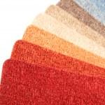 Color range of carpet samples — Stock Photo