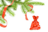 Chrismas gifts under the conferous tree — Stock Photo