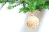 Weihnachtsdekoration auf baum — Stockfoto