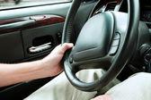 Sterownik gospodarstwa kierownicy — Zdjęcie stockowe