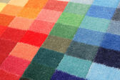 Color spectrum of carpet samples — Stock Photo