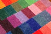 Color board of carpet samples — Stock Photo