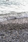 Gravel coastline — Stock Photo