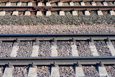 Metal rails — Stock Photo