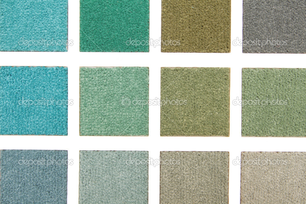 Color range of carpet samples can serve as background — Stock Photo #1402722