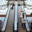 Escalator in shop with in motion — Stock Photo