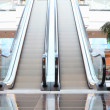 Escalator in shop in motion — Stock Photo
