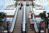 Escalator in shop with in motion — Foto Stock
