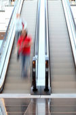 Escalator in motion — Stock Photo