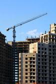 Betonová budova ve výstavbě — Stock fotografie