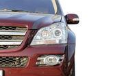 Frente rojo lujo de auto — Foto de Stock