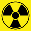 Radiation Warning Sign - Stock Photo