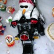 Royalty-Free Stock Photo: Motorcycle Snowman