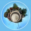 Planet Train Station — Stock Photo