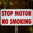 Stop Motor No Smiking - Stock Photo
