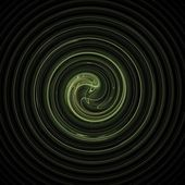 Fractal 31 green spiral — Stock Photo