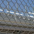 Bleachers Behind Fence — Stock Photo